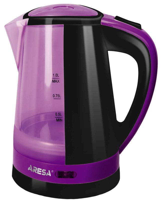 Чайник электрический Aresa AR-3434 Purple/Black.