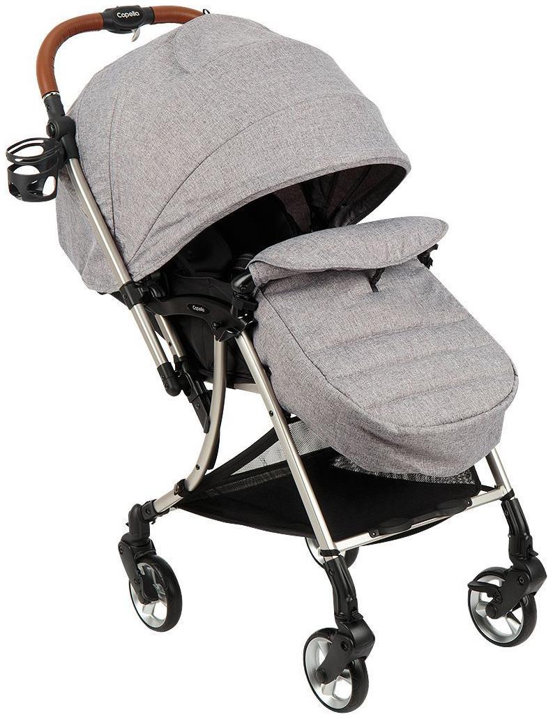 Купить S-230, Прогулочная коляска Capella S203 светло-серый,