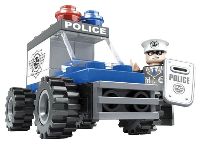 Купить Конструктор пластиковый Ausini Патруль - Полицейский джип, 33 детали, Конструкторы пластмассовые