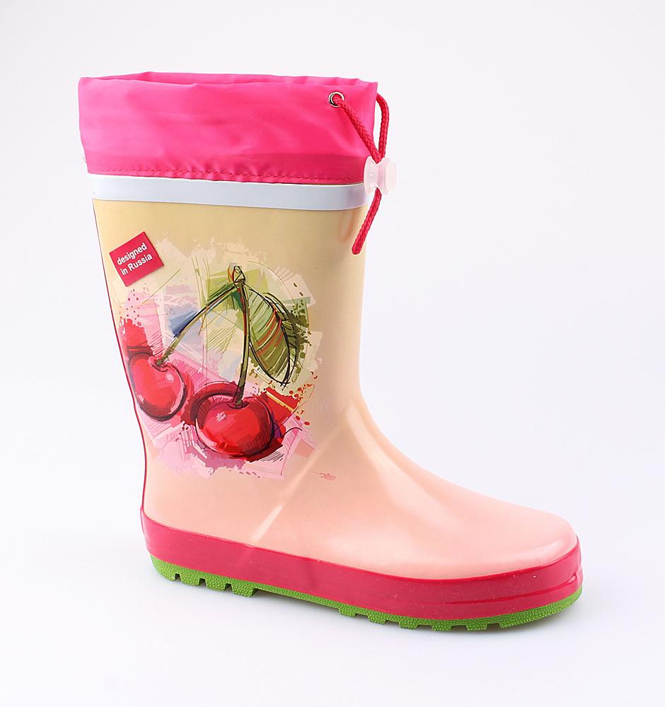 Резиновая обувь Котофей 566142-11 для девочек р.33