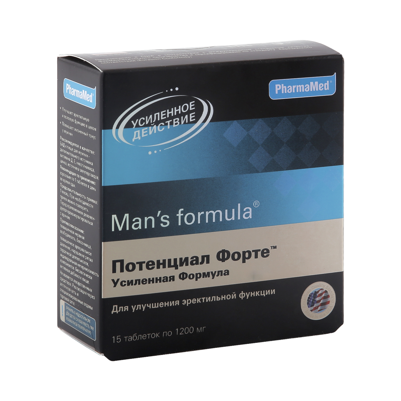 Mans formula PharmaMed потенциал форте усиленная формула таблетки 15 шт.