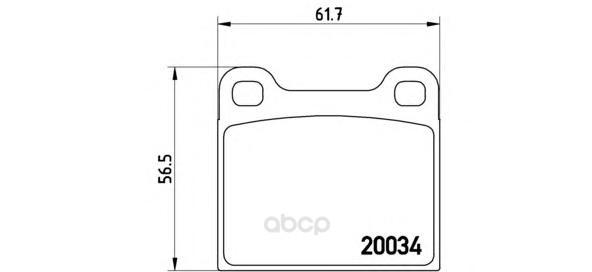 Тормозные колодки дисковые brembo P59001