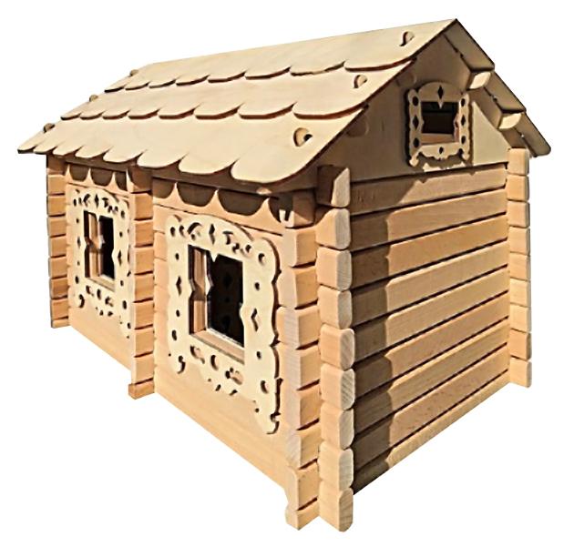 Купить Деревянный конструктор Лесовичок Добрый домик 102 элемента Нескучные Игры 7970, Деревянные конструкторы