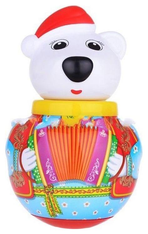 Развивающая игрушка STELLAR Неваляшка малая белый медведь