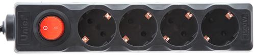 Удлинитель Uniel S GCD4 3B, 4 розетки,