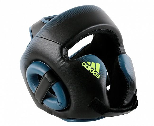 Шлем боксерский Adidas Speed Head Guard черно-синий M фото