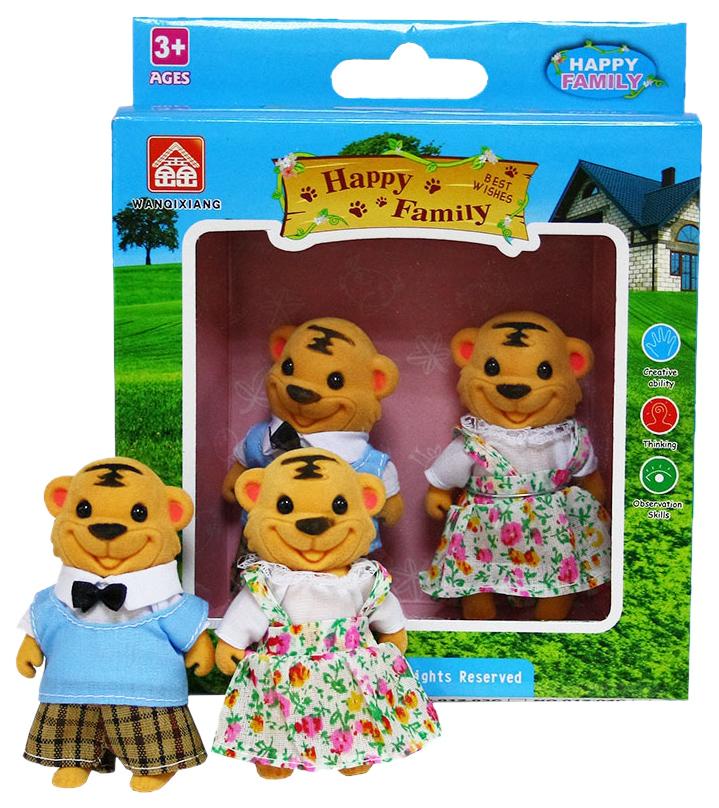 Купить Игровой набор Дрофа-медиа Happy Family Семья тигров, 012-16С, Дрофа-Медиа, Игровые наборы