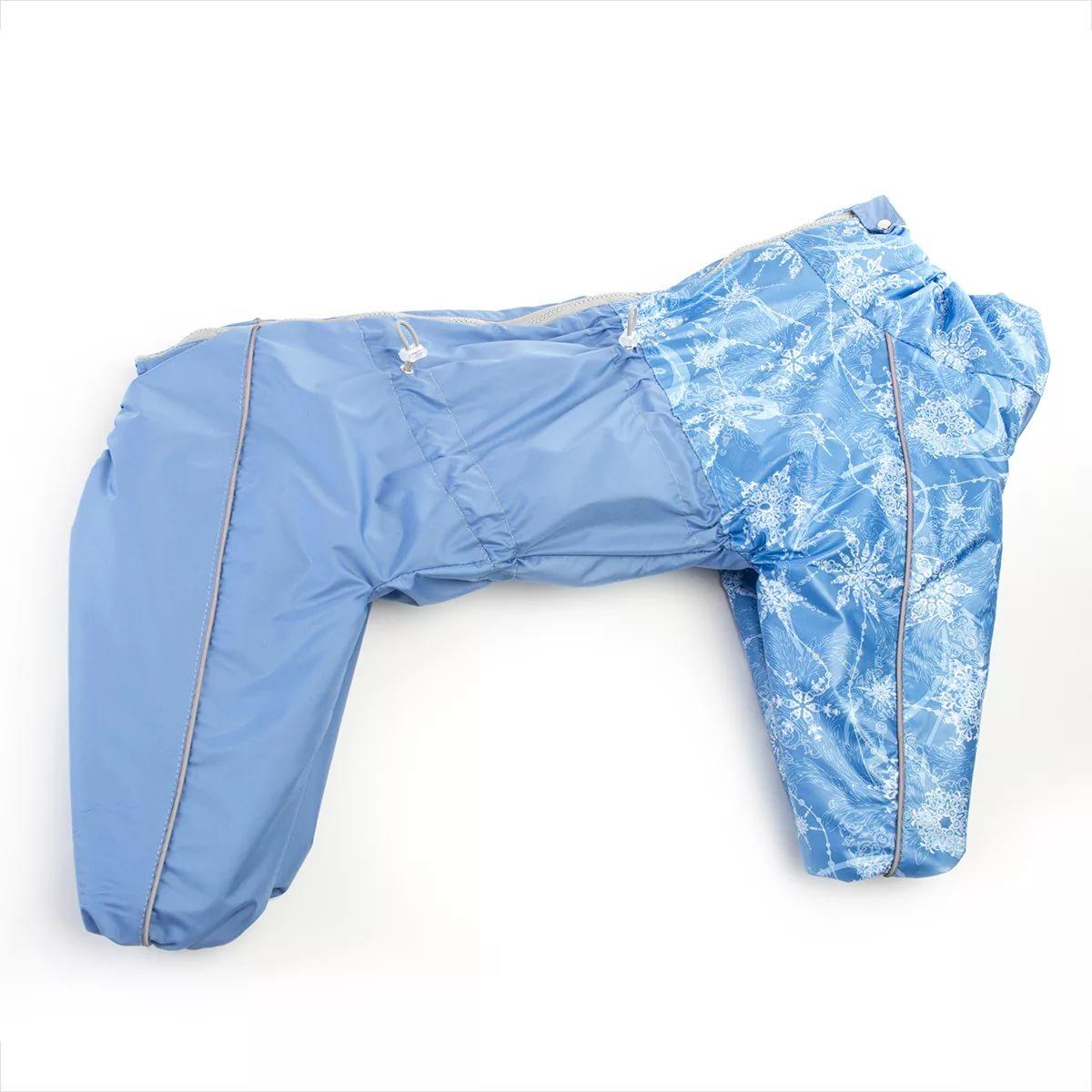 Комбинезон для собак OSSO Fashion размер S женский, голубой, длина спины 45 см