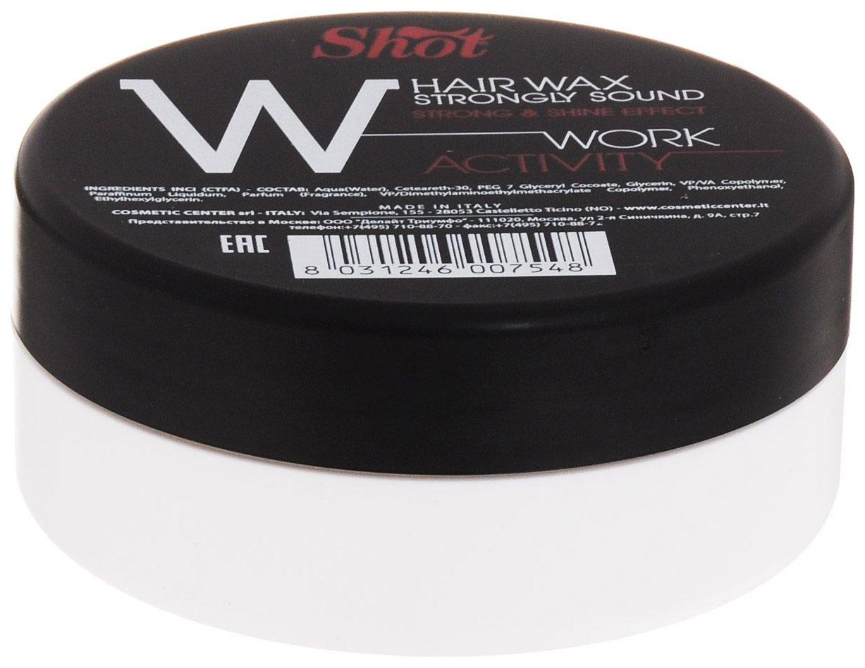Воск для укладки Shot Hair Wax Strongly Sound Work Activity W 100 мл