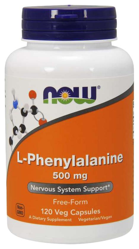 Купить Для нервной системы NOW L-Phenylalanine 500 мг 120 капсул