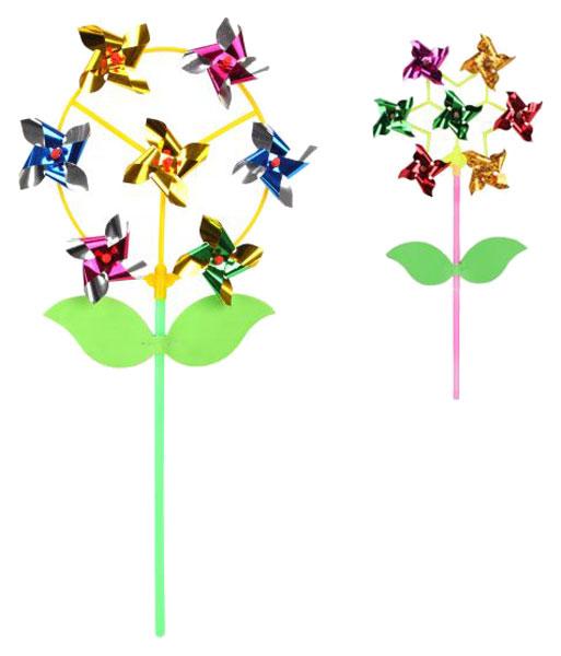Купить Вертушка Наша Игрушка Цветик с листочками 6929B в ассортименте, Наша игрушка, Ветрячки и флюгеры