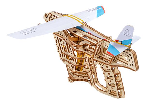 Объемные 3D пазлы Ugears Пускатель самолетиков 70075