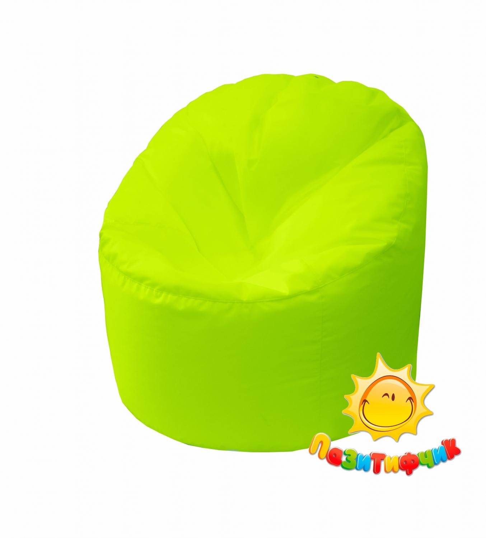 Кресло-мешок Pazitif Пенек Пазитифчик, размер L, оксфорд, лимонный фото