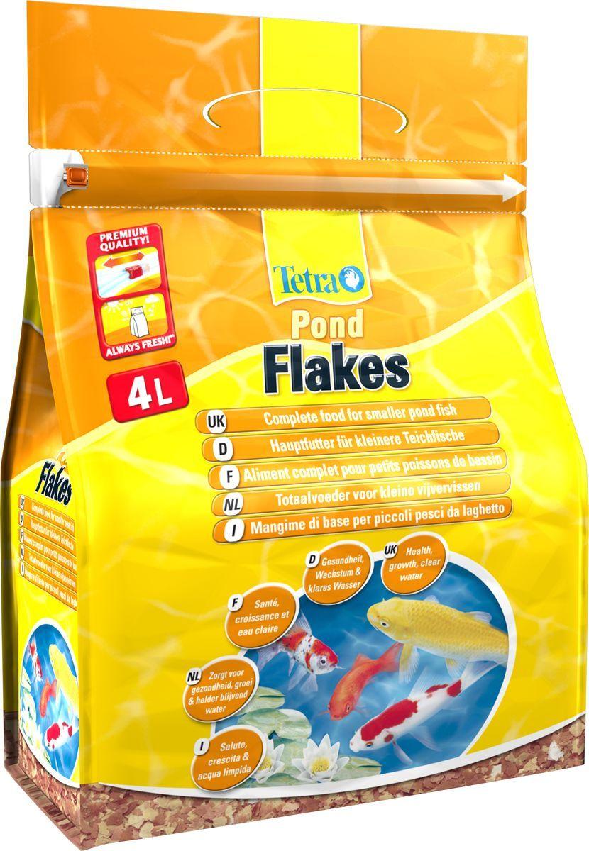 Корм для прудовых рыб Tetra Pond Flakes, хлопья,