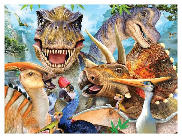Купить Стерео пазл PRIME 3D 13604 Динозавры селфи, Пазлы