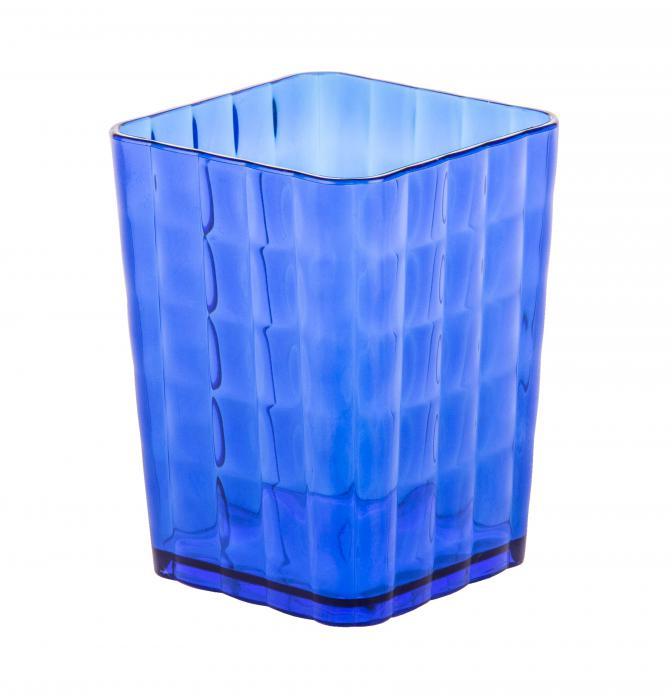 Стакан для з/щет Кристалл синий М6819