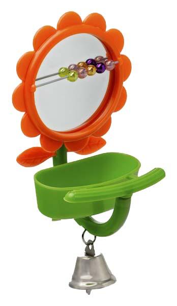 Игрушка для птиц Triol Зеркальце с кормушкой