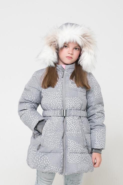 Зимняя стеганая куртка Crockid цв. серый, р. 134-140 1500071254-3