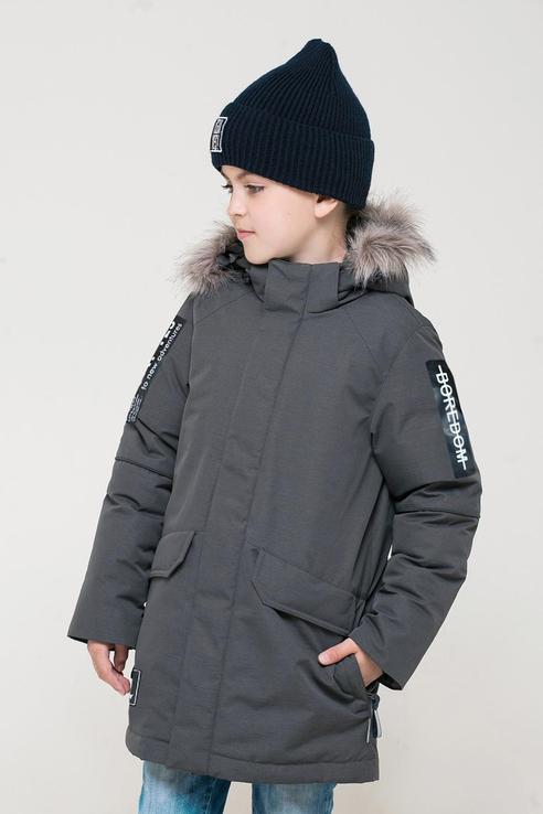 Зимняя куртка из мембранной ткани Crockid цв. серый, р. 116-122 1500071254-1