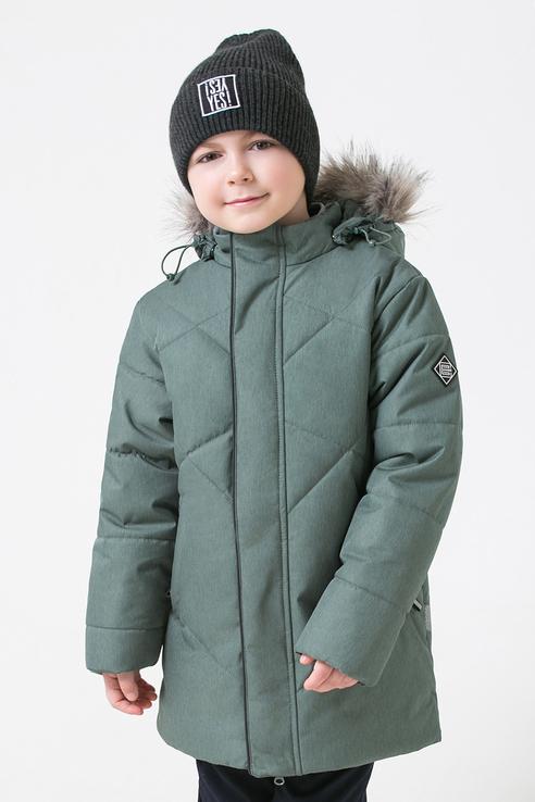 Зимняя стеганая куртка Crockid цв. зеленый, р. 140-146 1500071254-2