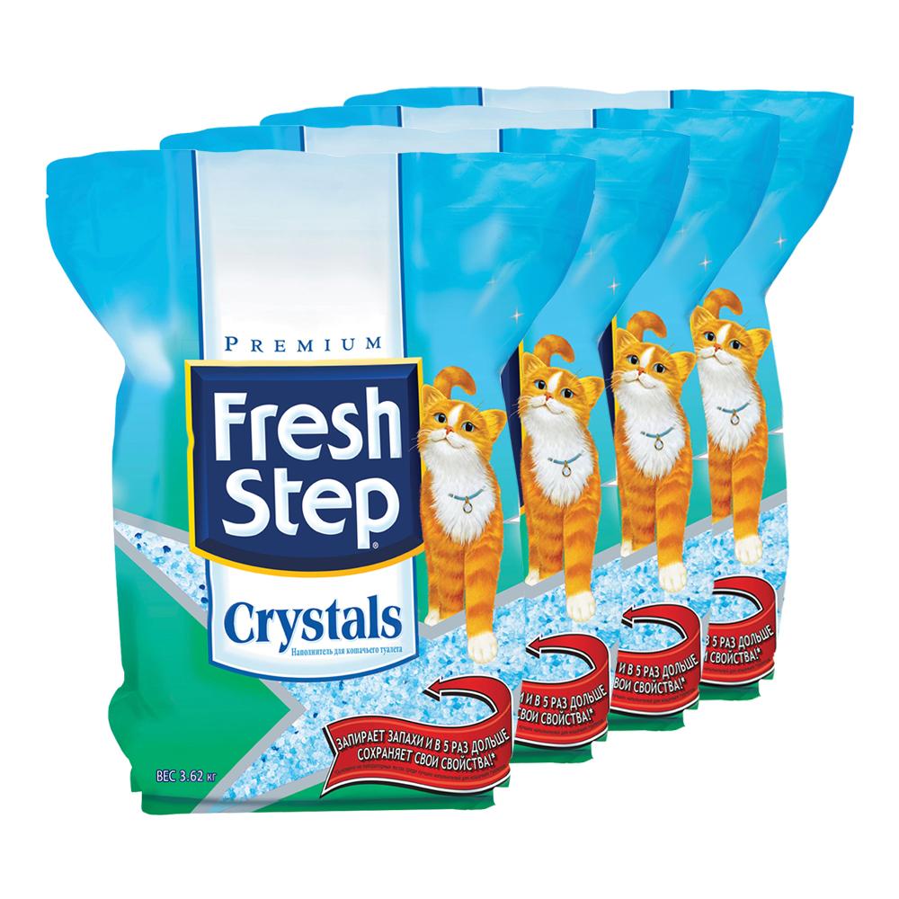 Впитывающий наполнитель для кошек Fresh Step силикагелевый,