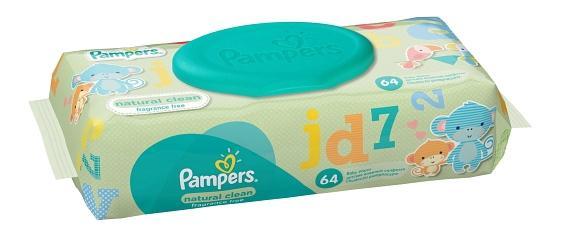 Купить Детские влажные салфетки Pampers natural clean, 64 шт.