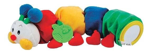 Развивающая мягкая игрушка K's Kids Гусеничка с прорезывателем