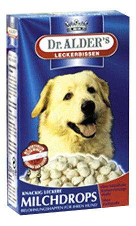 Лакомство для собак Dr. Alder's MilhDrops молочные, 250г фото