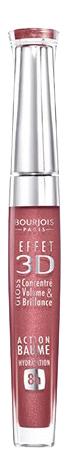 Блеск для губ Bourjois Effet 3D тон 03 Розовый, Темно-бежевый фото