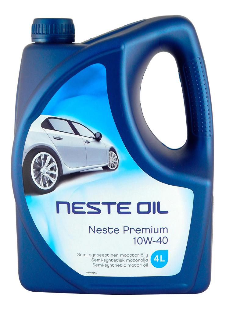 Моторное масло Neste Oil Premium 10W-40 4л