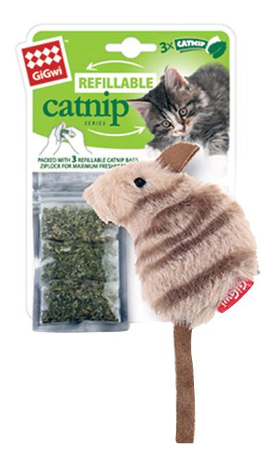 Мягкая игрушка для кошек Gigwi, Текстиль, с кошачьей мятой 10 см