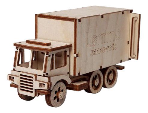 Купить Грузовик ЧИП, Конструктор деревянный Lemmo Фургончик Чип , Деревянные конструкторы