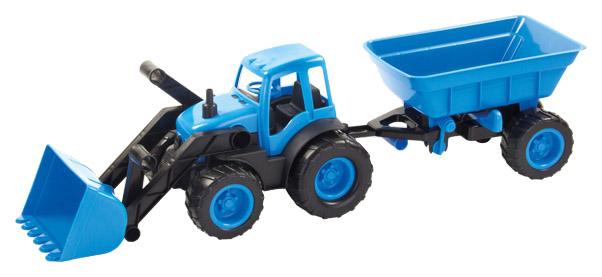 Купить Спецтехника Zebratoys Трактор с ковшом и прицепом ACTIVE в коробке 15-10173, Строительная техника
