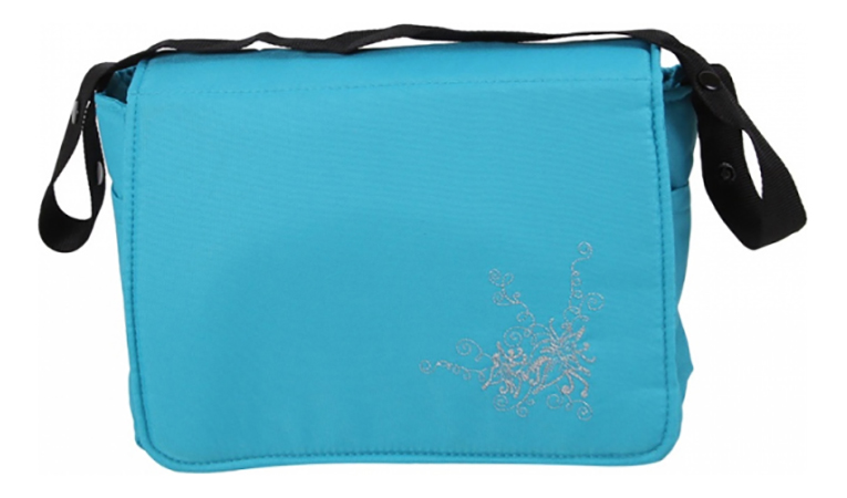 Дорожная сумка для коляски Лео Алиса с матрасиком Бирюза