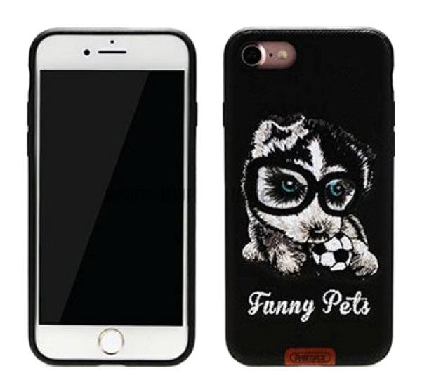 Чехол-накладка Remax Funny Pets для Apple iPhone 7 Plus Black