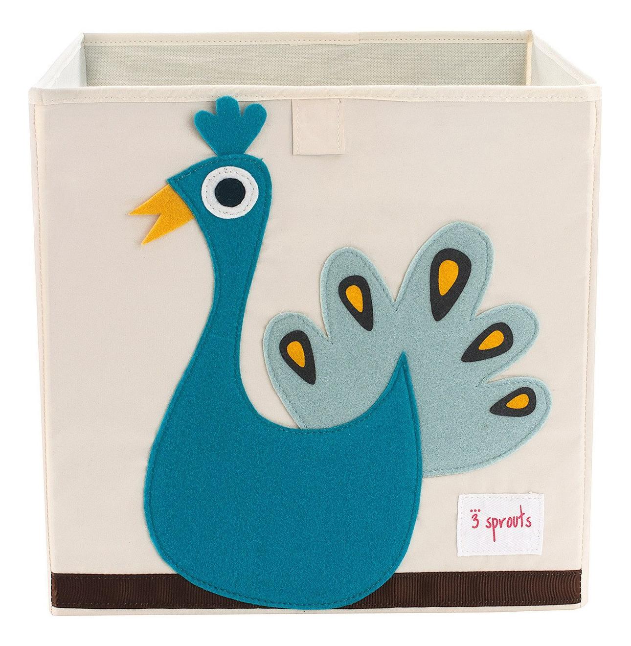 Ящик для хранения игрушек 3 sprouts Павлин