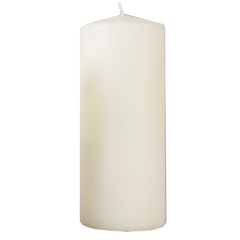 Свеча столбик, 200*80 мм, слоновая кость 079817