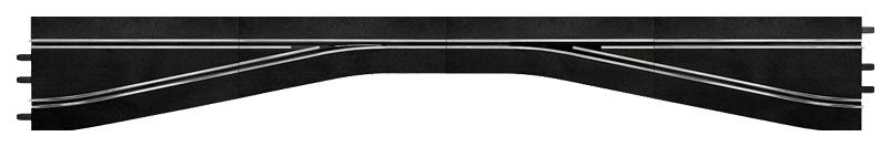 Купить Автотрек Carrera Прямая со сходящимися полосами трассы левая 30350, Машинки-трансформеры