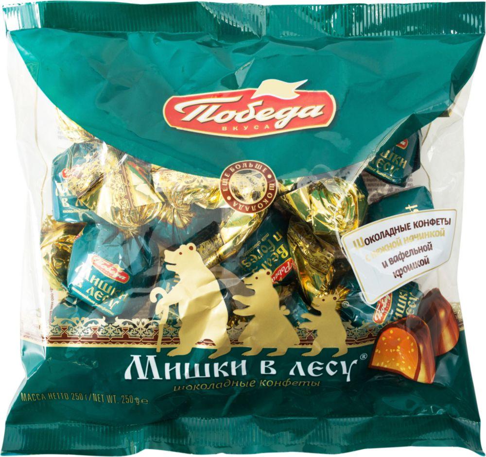 Конфеты мишки в лесу Победа вкуса шоколадные 250 г фото