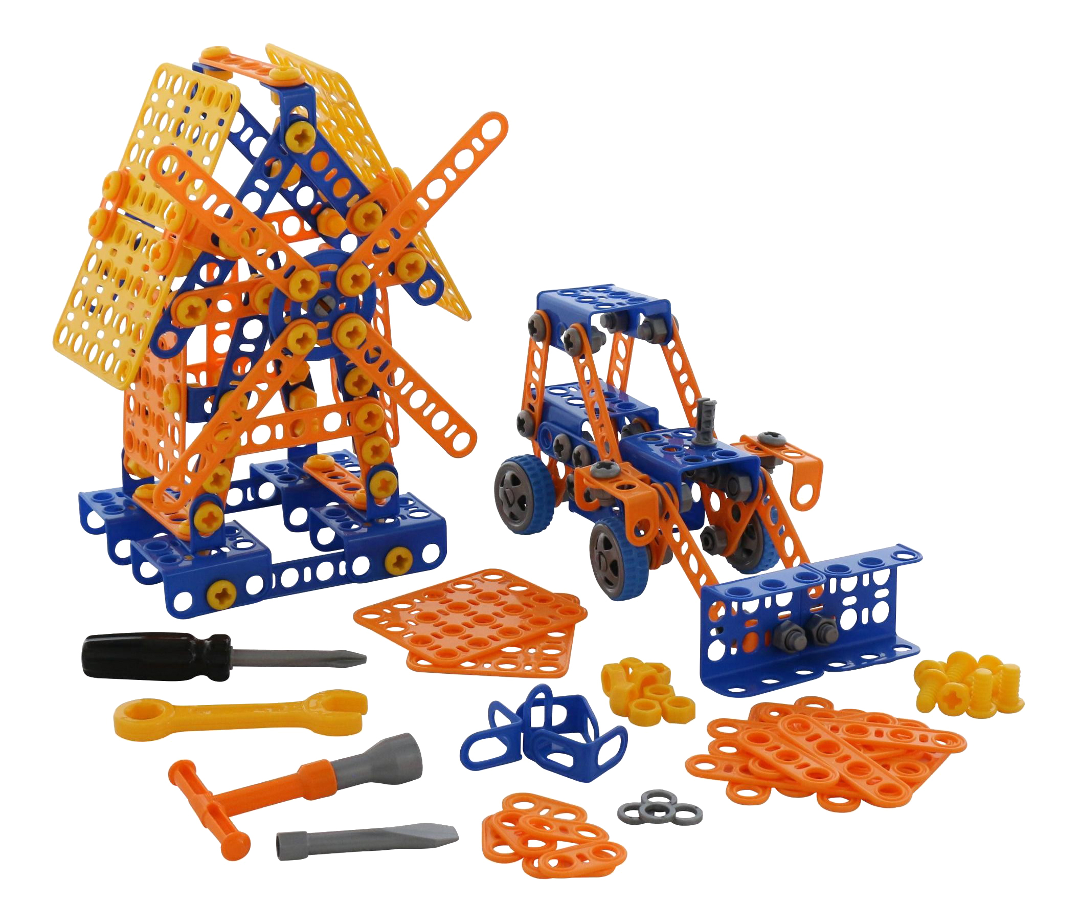 Конструктор Полесье Изобретатель Мельница №2 + Трактор-погрузчик №1 330 элементов,  - купить со скидкой