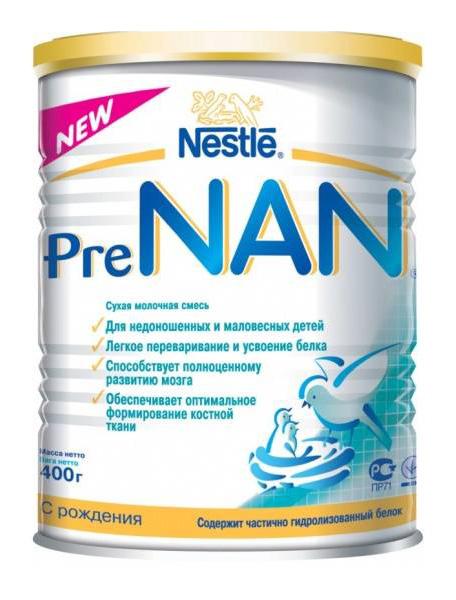 Купить Молочная смесь 1 (от 0 до 6 мес.) NAN Pre 400 г, Детские смеси 1 (с рождения)