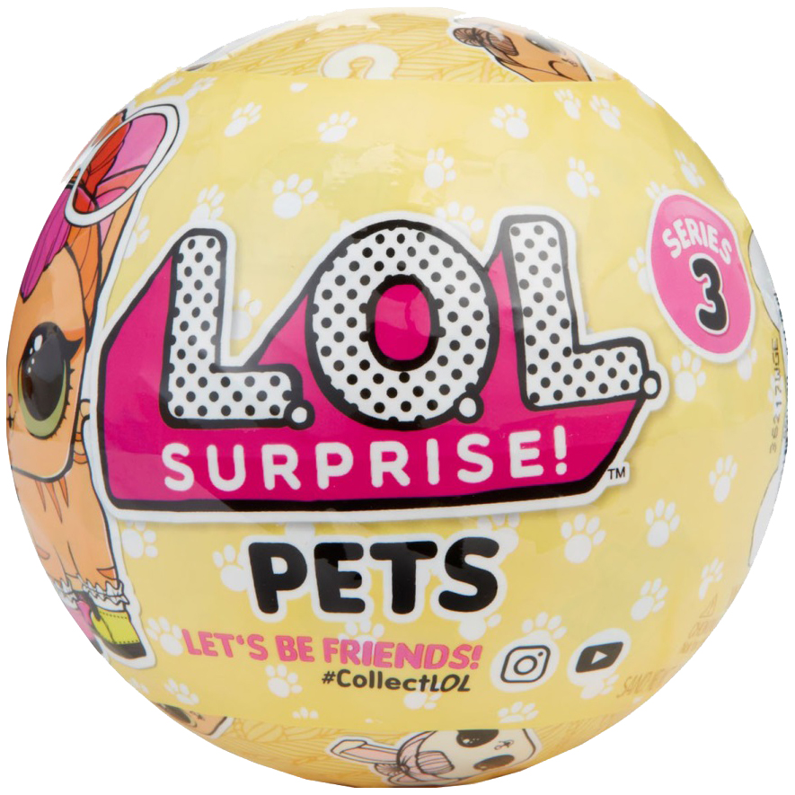 Купить Кукла-сюрприз L.O.L. питомец в шарике 3-я серия 549574, LOL Surprise, Куклы LOL