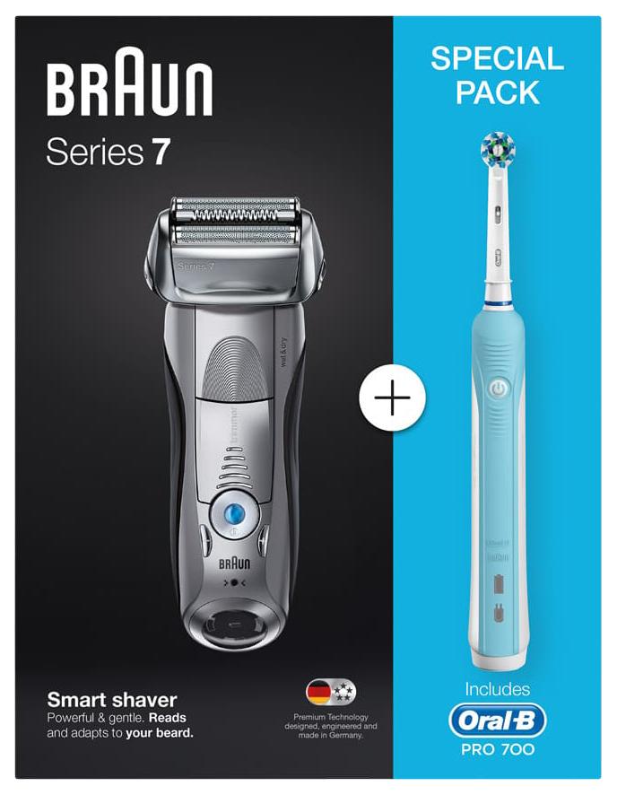 Электробритва Braun 7893s+Электрическая зубная щетка Oral-B PRO 500 CrossAction D16.513.U