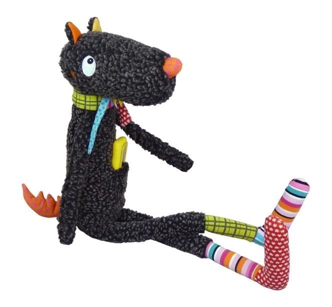 Мягкая игрушка Ebulobo Синьор волк с телефоном 60 см E10039