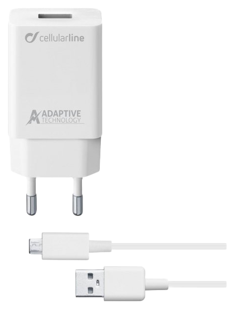 Сетевое зарядное устройство Cellular Line 1 USB 2A White ACHSMKIT15WMUSBW