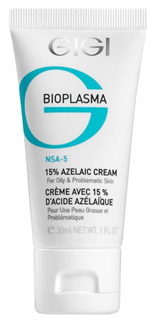 Крем для лица GIGI Bioplasma с 15 % азелаиновой кислотой для жирной проблемной кожи 30 мл
