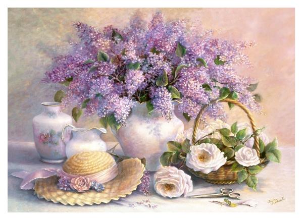Пазл Castorland Цветы 1000 деталей
