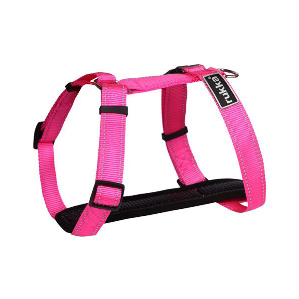 Шлейка для собак RUKKA, розовая, 25мм, обхват 35-60см фото