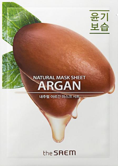 Купить Маска тканевая N с экстрактом арганы Natural Argan Mask Sheet 21мл, THE SAEM