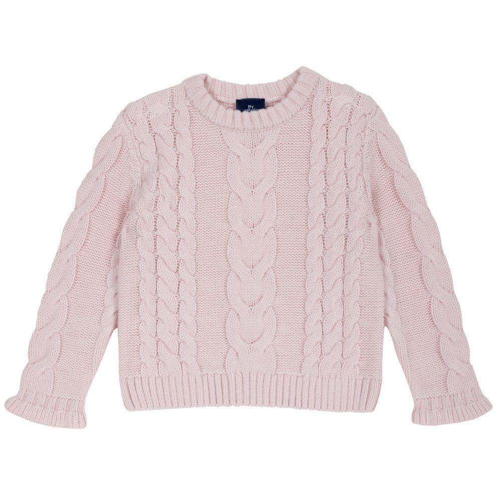 Купить 9069325, Джемпер детский Chicco в крупную вязку р.110 цвет розовый,
